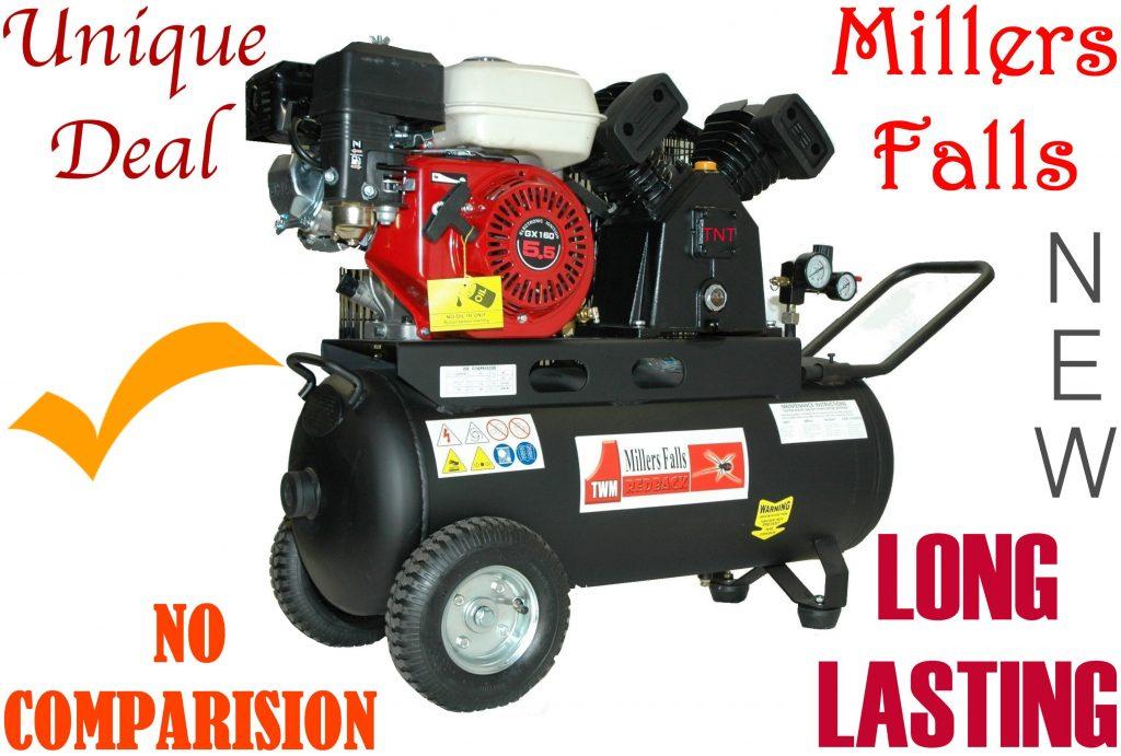 Compressor Petrol Driven 5.5-hp=50L MILLERS FALLS*