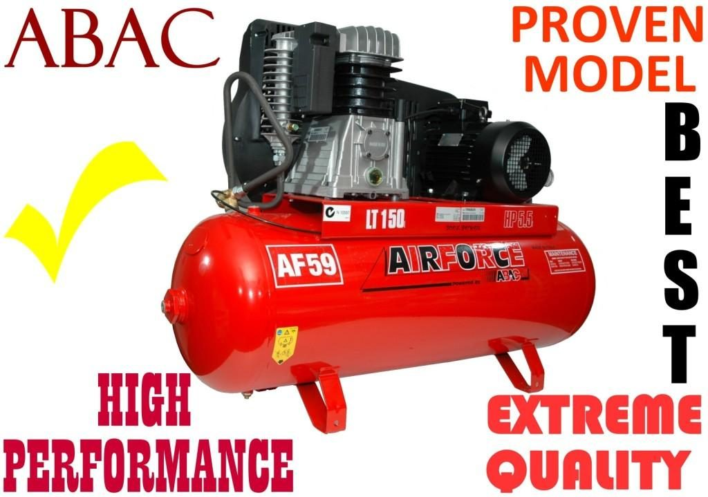 Compressor ABAC 5.5-hp X 150L Made In Italy = BEST
