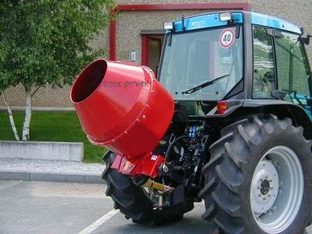 Cement Mixer 5 cuft=For running long hours with PTO