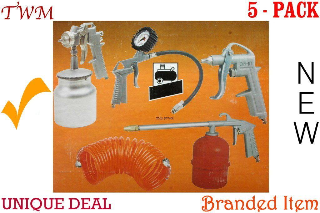 Air Kit 5-Pack= Spray gun, tyre inflator, kero gun