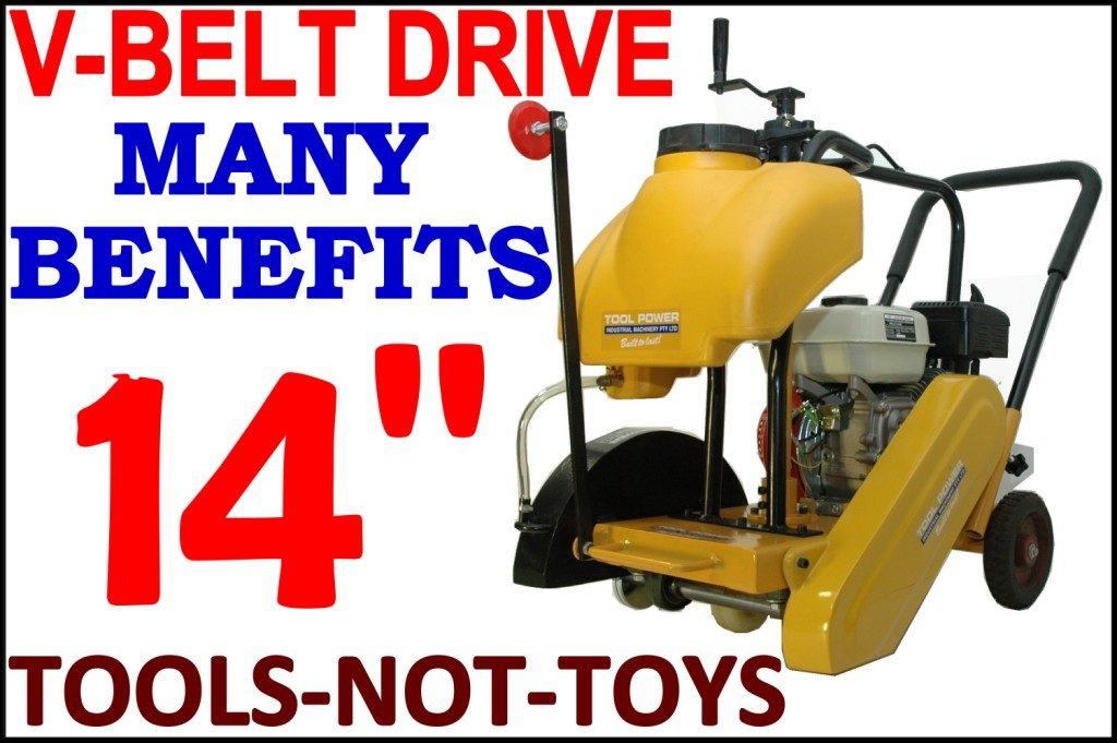 """Concrete cutting Saw 14"""" TOOL POWER wet & dry ++++++++++"""