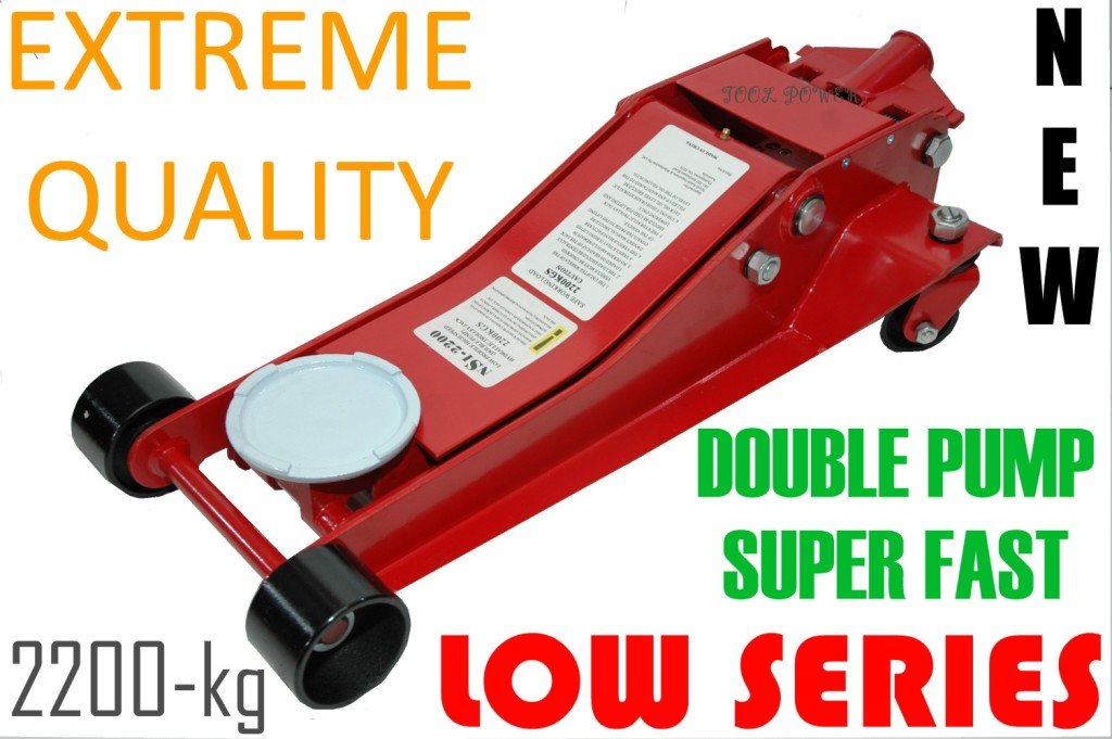 Trolley Jack Low Profile, Double Pump