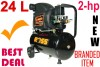 Compressor ROSS 2-hp X 24L Single piston = New**-0