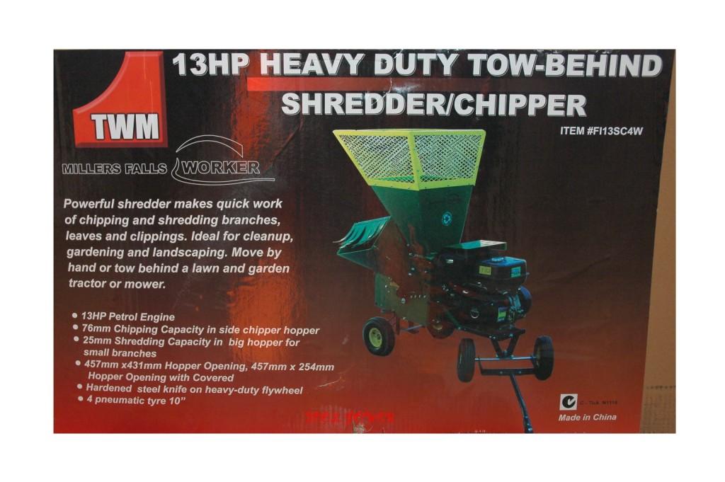 Shredder & Chipper TWM 13-hp 4-wheeler, TOWABLE+++-721