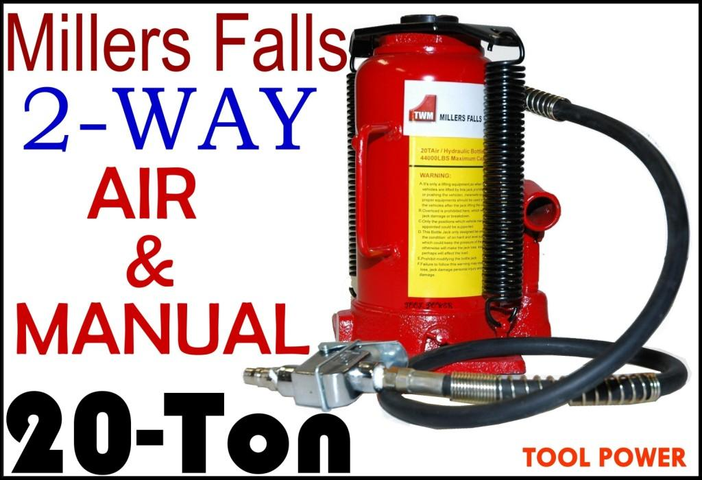 Jack 20 ton by Millers Falls, Air or Manual