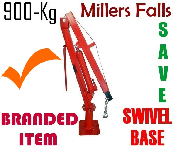 Ute and Truck Crane 900 kg with 3 ton RAM Swivel Base