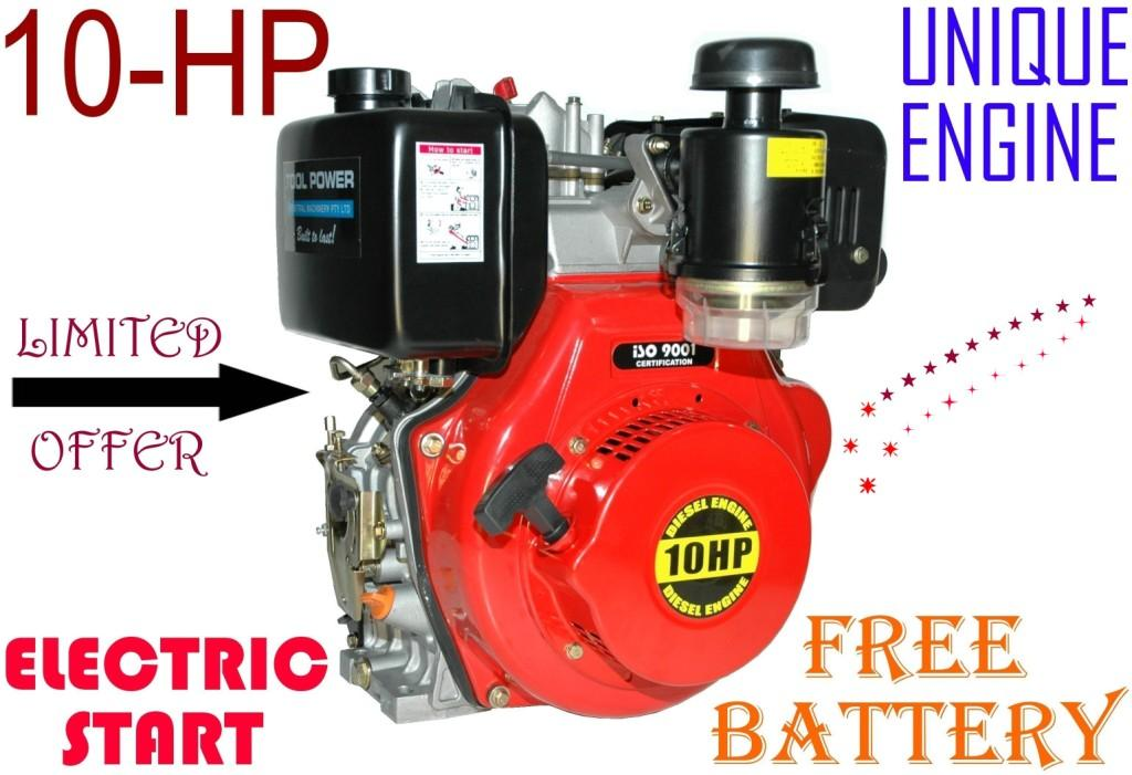 Diesel engine 10 hp electric start