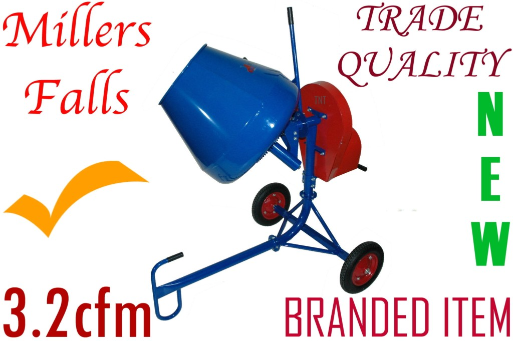 Cement Mixer 190-Litres, 650-watts = TRADE TYPE********-0