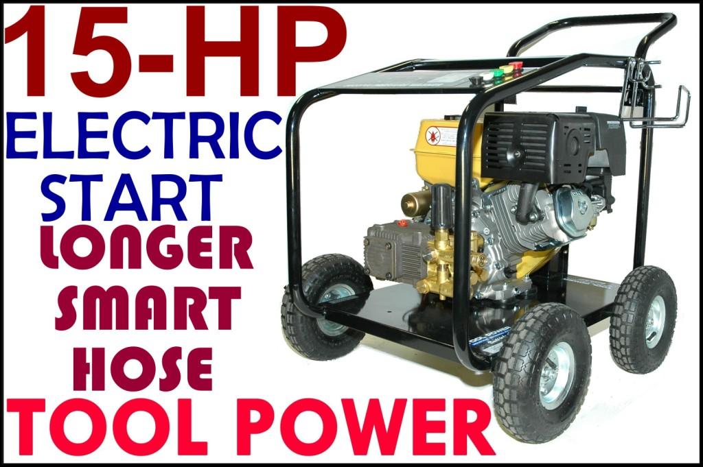 High pressure water blaster, 15-hp, 4800psi, H/D++-0
