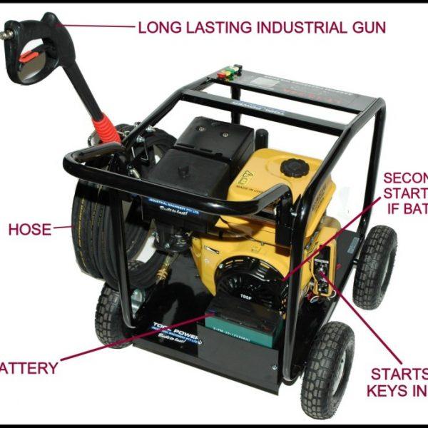 High pressure water blaster, 15-hp, 4800psi, H/D++-828
