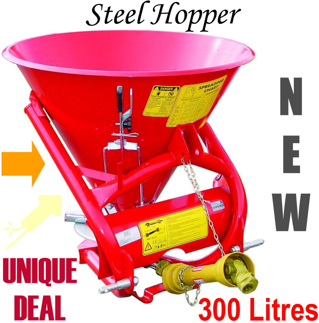Spreader 300L Seeds, fertilizer = WOW STEEL HOPPER-0