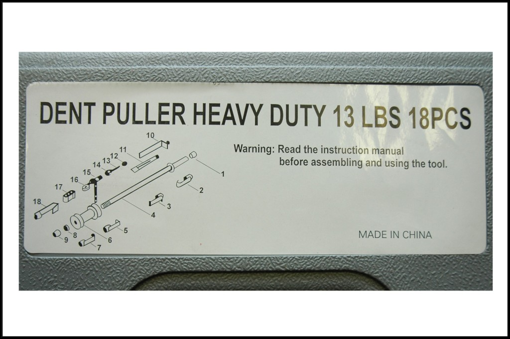 Dent Puller NSI 13 lbs Heavy duty kit for panel beaters-850