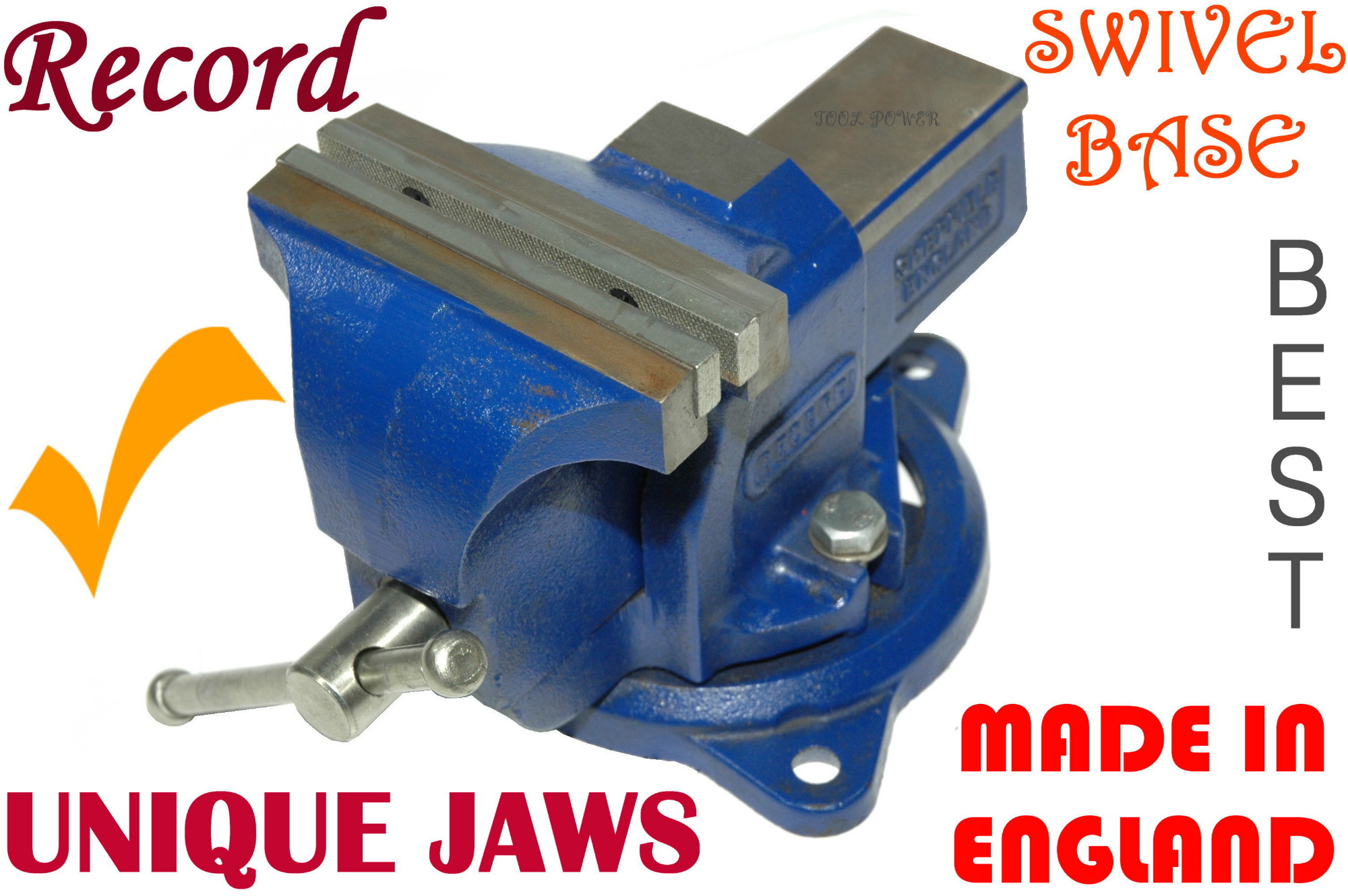Bench Vice RECORD 150mm Swivel base -0