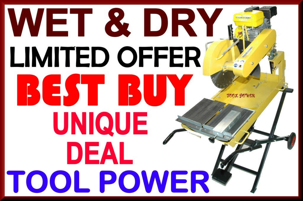 Brick Saw wet and dry belt drive unit by Tool Power