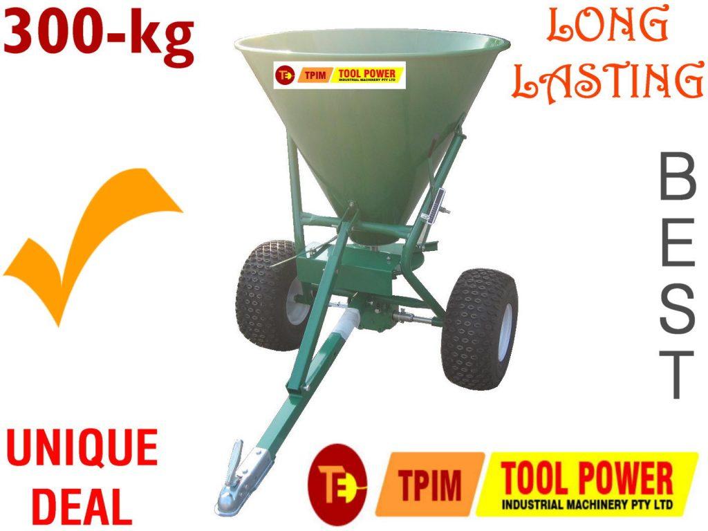 Spreader Fertilizer & seed 300kg BIGGER Wheels with high rating gear box=BEST*