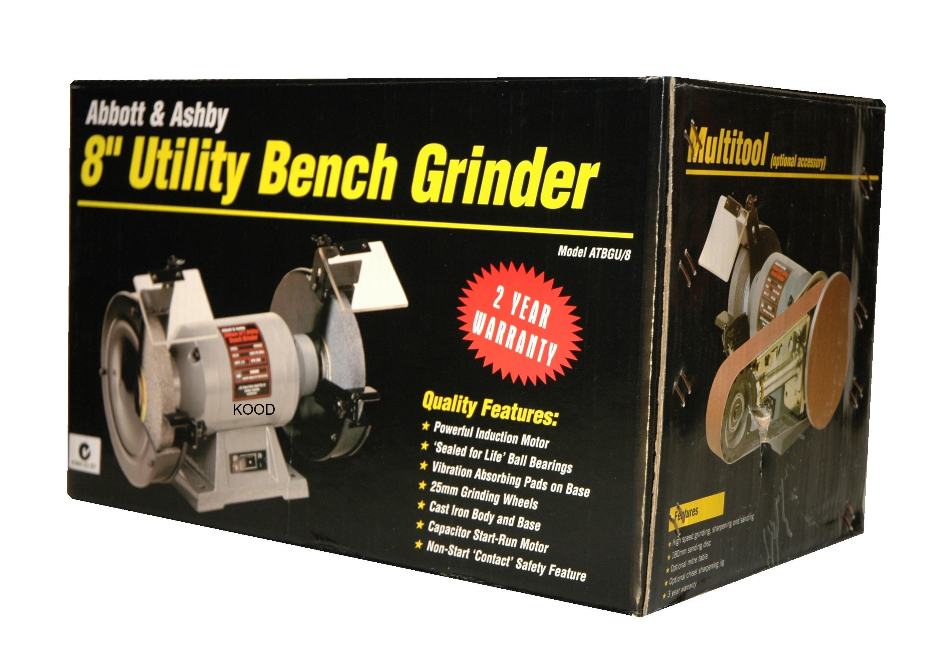 Bench Grinder Abbott Amp Ashby 8 Inch X 3 4hp New Tpim