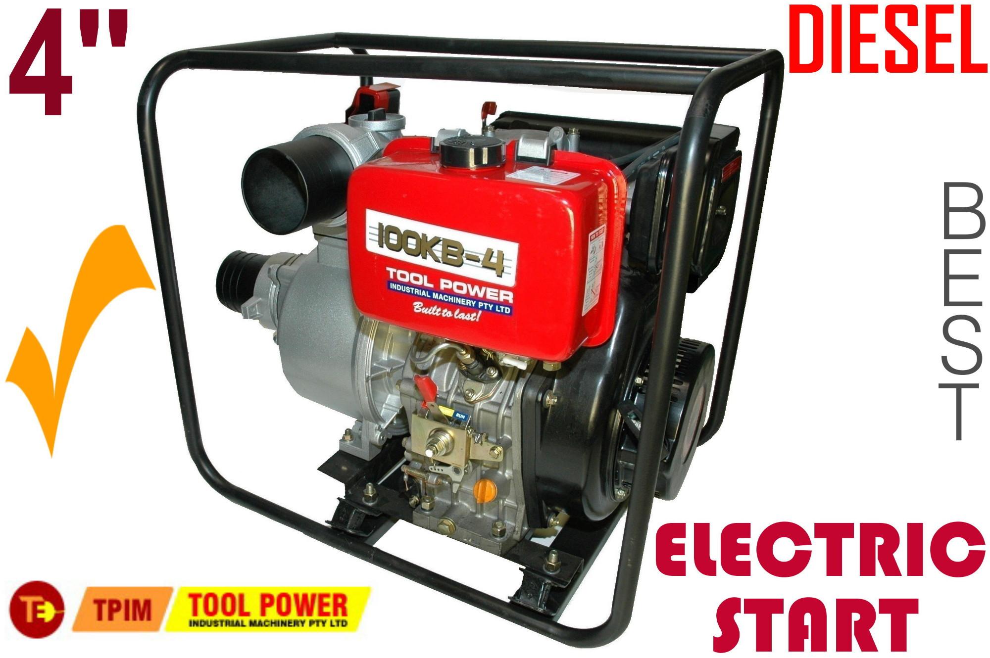 Water Pump TOOL POWER 4'' Diesel Key Start = New**-0