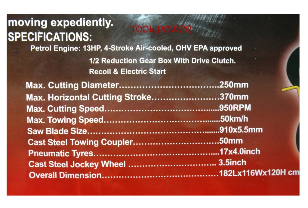 Fire wood log saw 36'' x 13-hp Low maintenance belt drive-1415