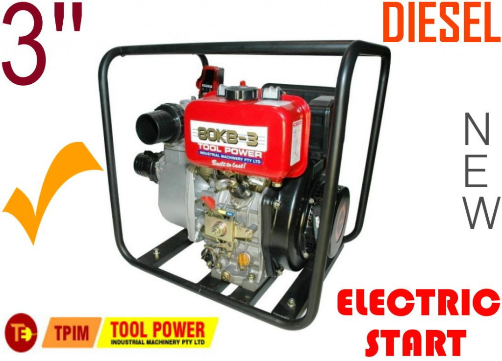 "Water Pump TOOL POWER Diesel 3"" ELECTRIC START = New++"