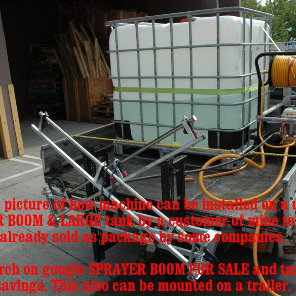SPRAYER WEED PLANTS GARDEN Chemical Extra H-D can run BOOMS on ute BRASS PUMP+++-1497