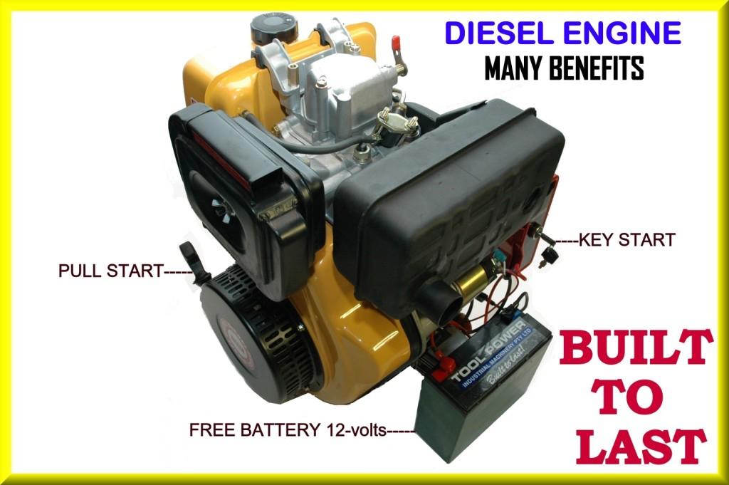 Engine 10-hp diesel electric start TOOL POWER Brand New