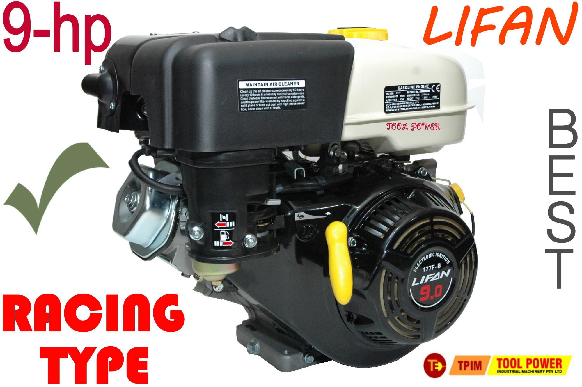 Engine 9 hp Lifan for pumps, Generators, Log Splitters