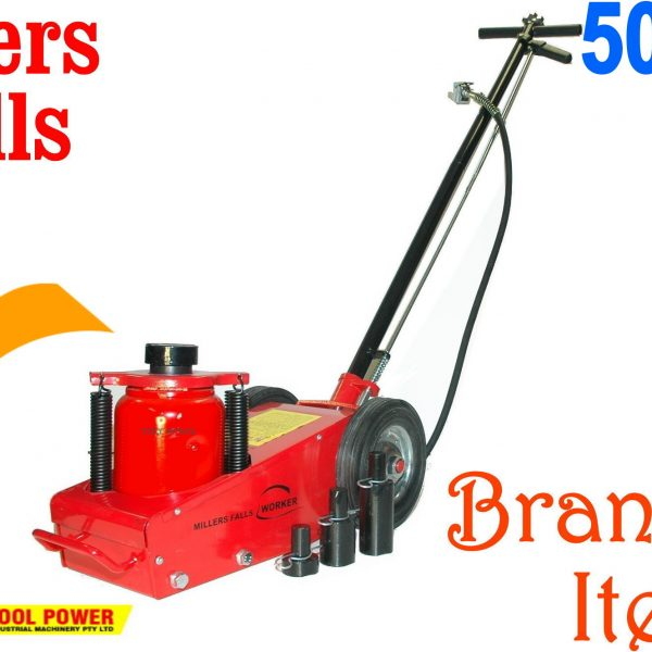 Trolley Jack Truck Type MILLERS FALLS 50-ton Air Powered*****-0