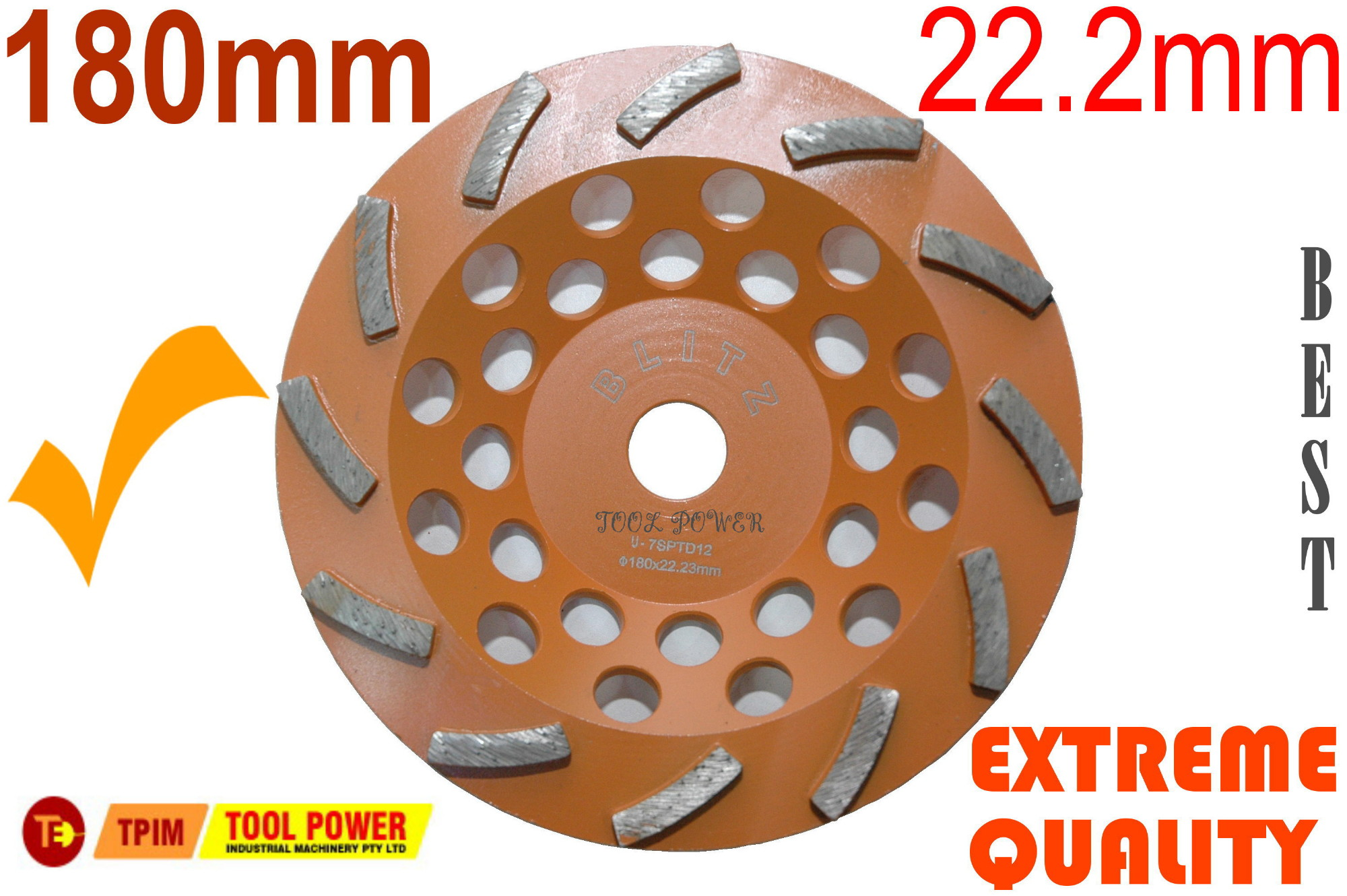 concrete grinding wheel 180 mm by Tool Power