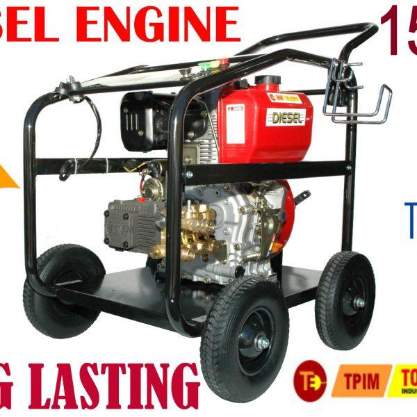 Pressure Cleaner, Water Blaster, 15hp DIESEL, Turbo + 18m hose-0