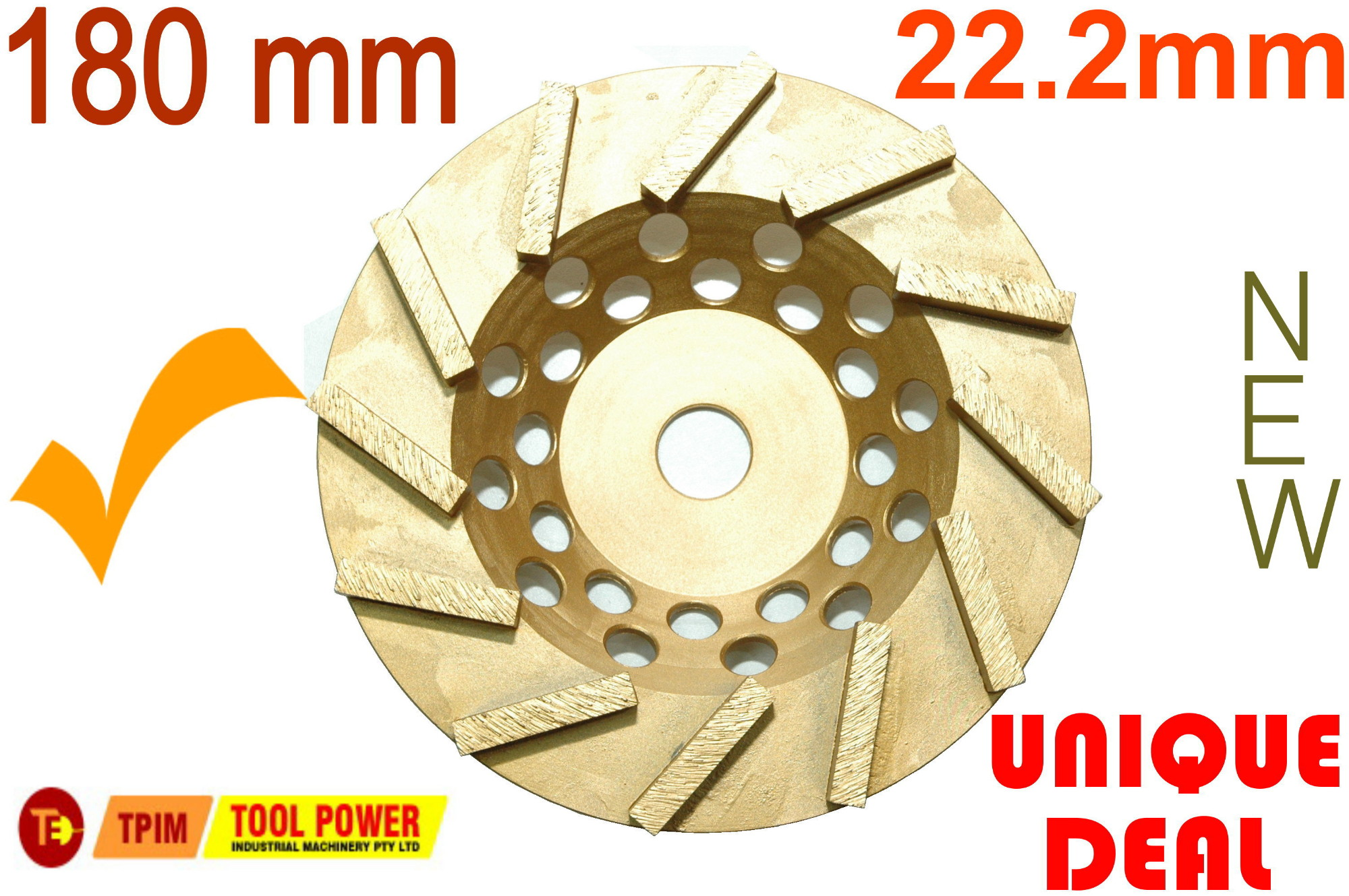 Concrete Grinding Wheel 180mm by Tool Power