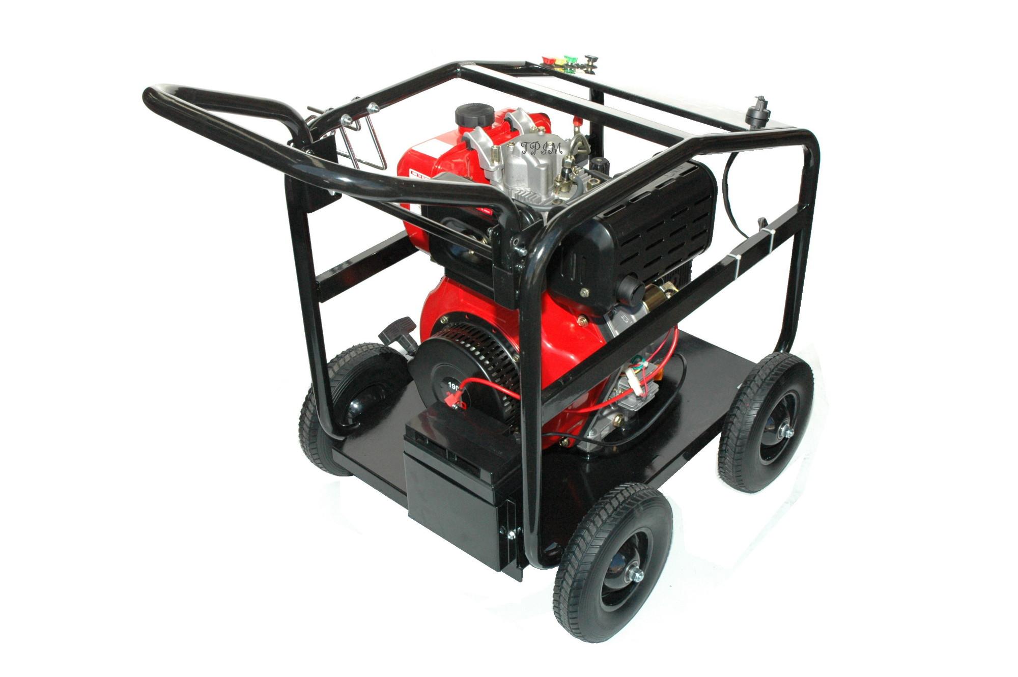Pressure Cleaner, Water Blaster, 15hp DIESEL, Turbo + 18m hose-1721