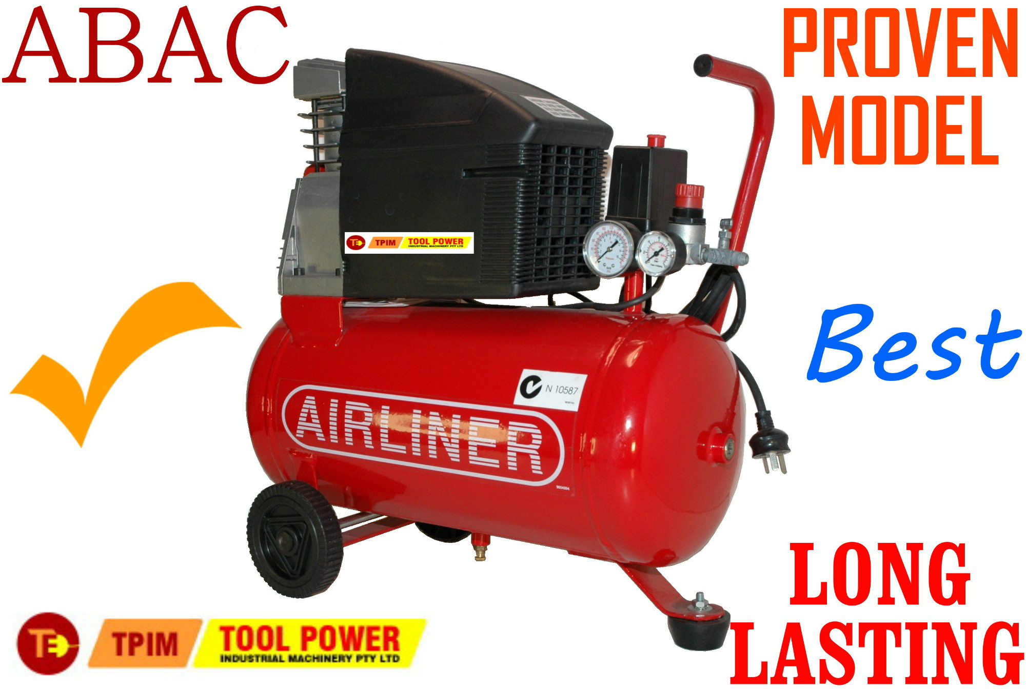 Air Compressor ABAC 2-hp x 24L PUMP & MOTOR