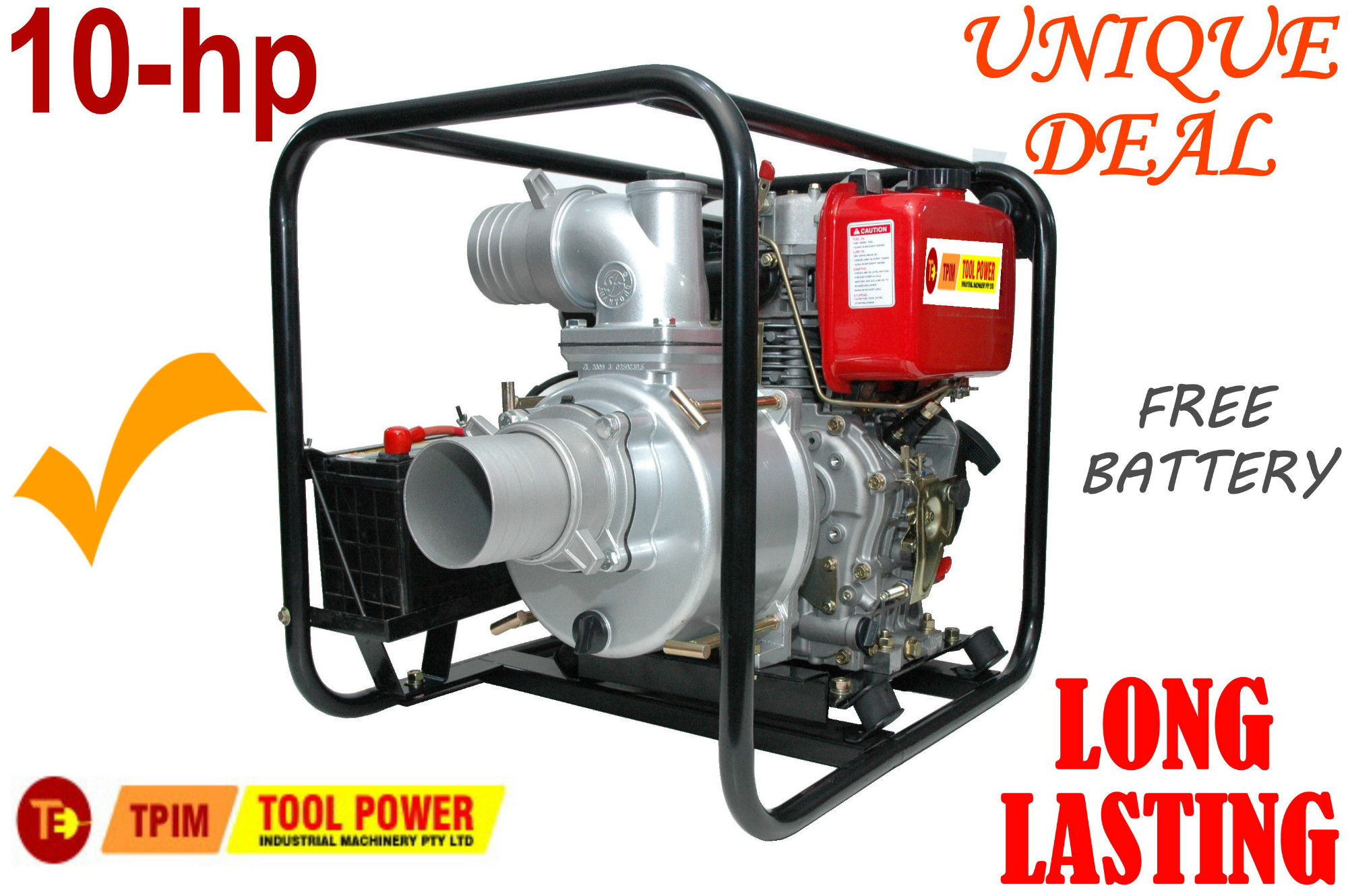 Trash pump Diesel 4 inch electric start