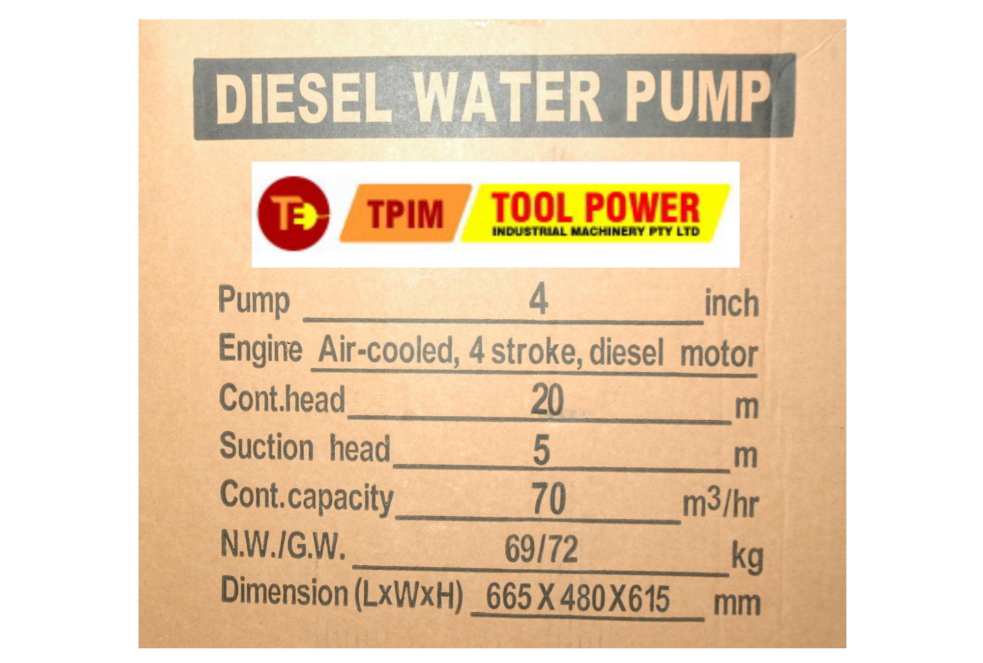 Trash water pump 10 hp