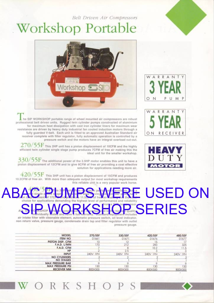 24 litres compressor with abac pump