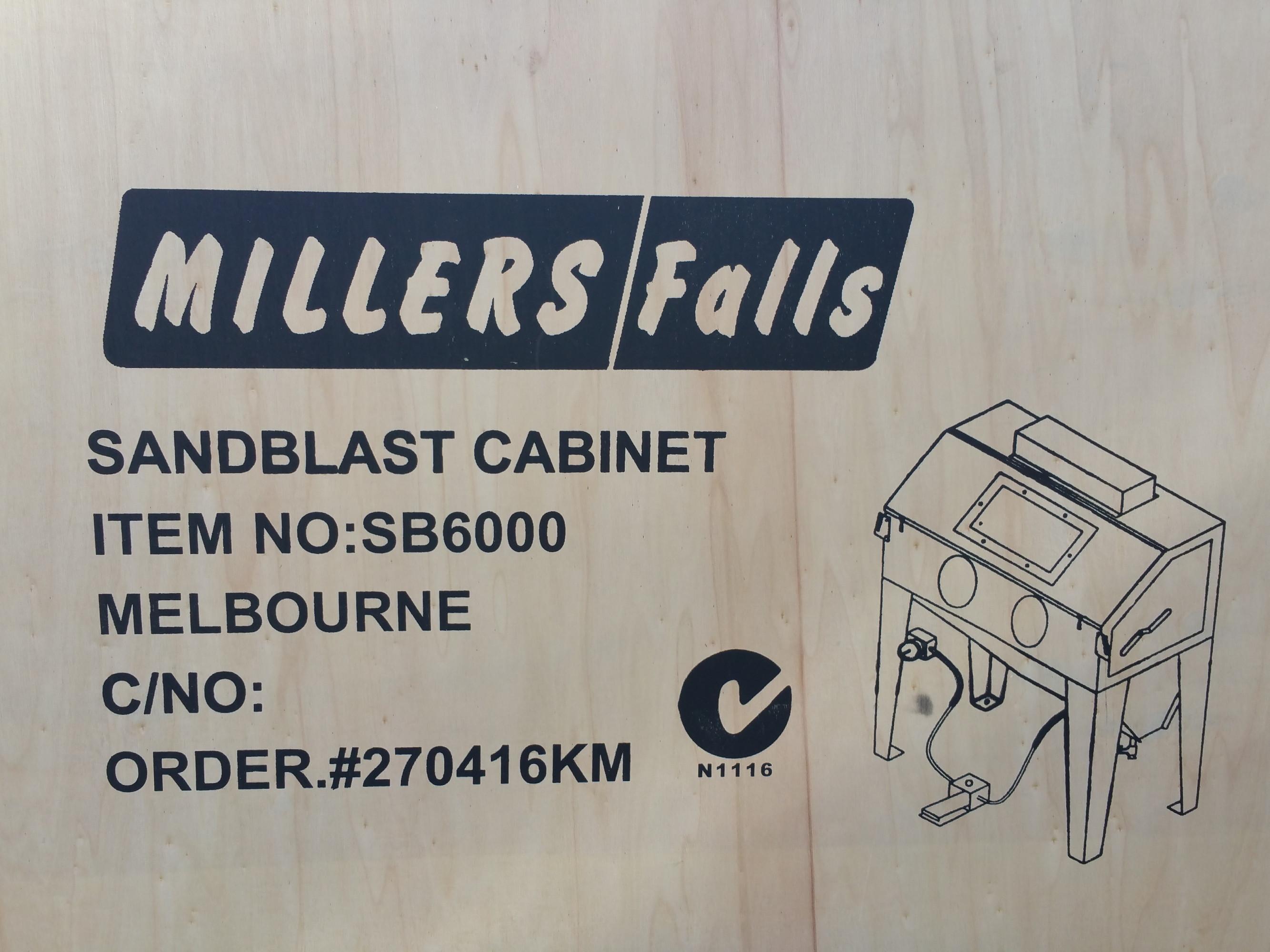 TWM 420 Litre sand blasting cabinet
