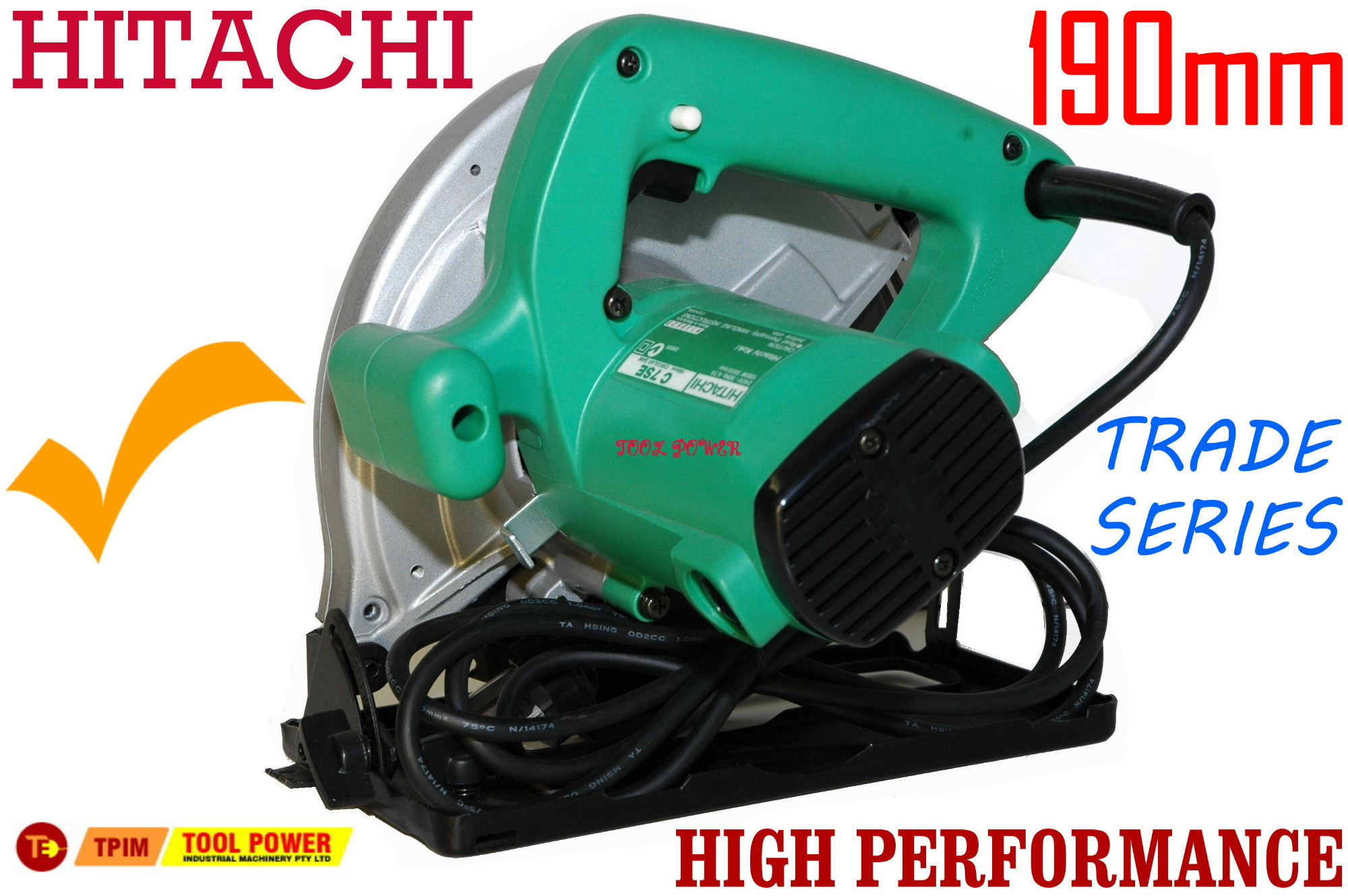 Hitachi circular saw 190mm with free case