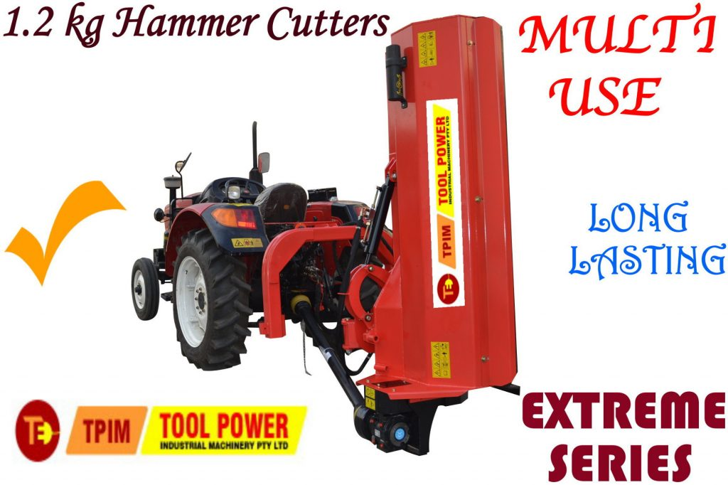 Tractor Flail Verge Mower, TOOL POWER, 656kg extra heavy duty type
